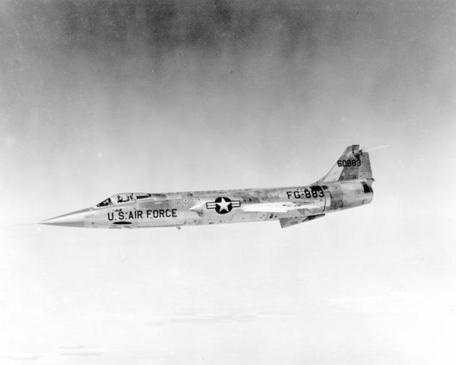Lockheed F-104C 56-0883 [mfr LN 5747 via RJF]