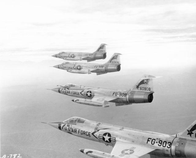 Lockheed F-104C 56-0908 479TFW [mfr LA 782 via RJF via RJF]