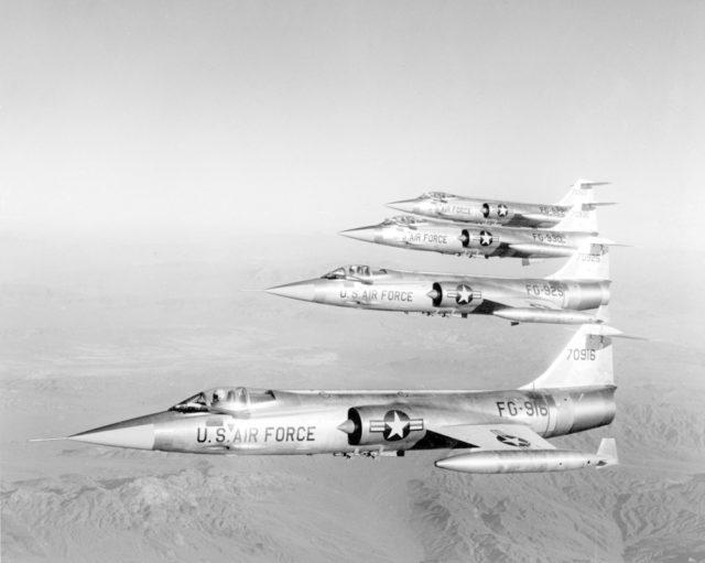 Lockheed F-104C 57-0916 [mfr LA-1381-1  via RJF]