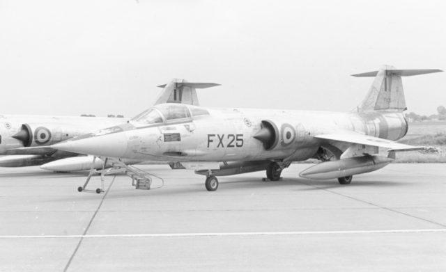 Lockheed F-104G [Sabca] cn 9056 FX-25 350 Sqn 62-12276 Force Arienne Belge  (FAB via RJF)