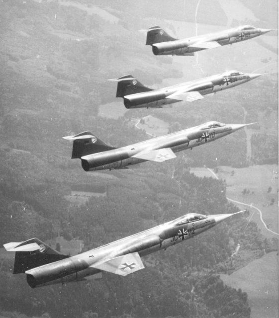 Lockheed F-104G [SABCA] cn 9081 JD 112 JG 74 Lufwaffe (German AF via RJF)