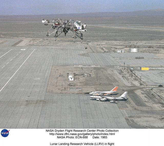 Lunar Landing Research Vehicle (LLRV) in flight