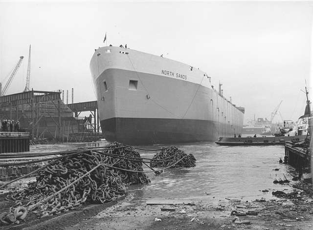 'North Sands' afloat after launch