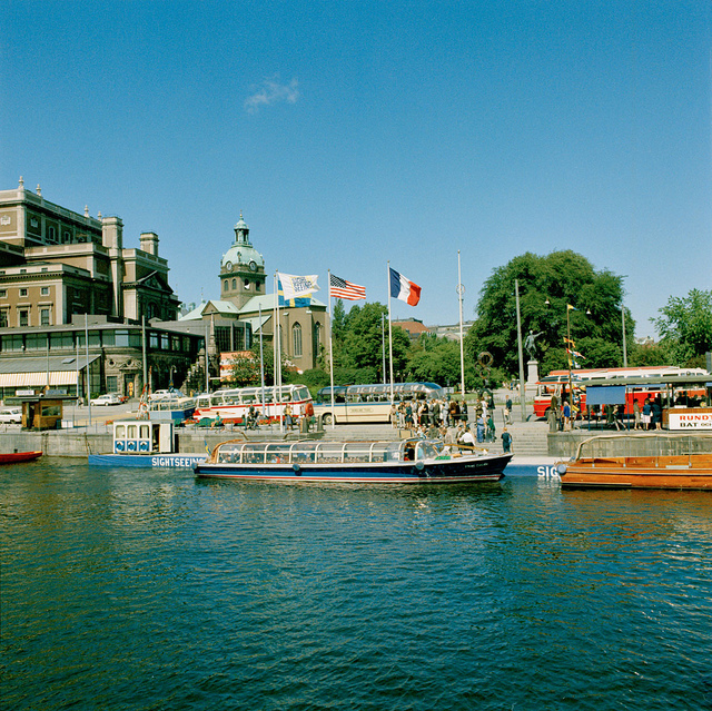 Sigthseeing boats i Stockholm about 1965
