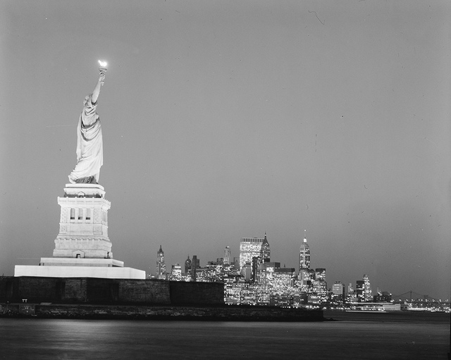 [Statue of Liberty at Night]