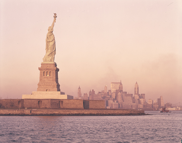 [Statue of Liberty at Sunset]