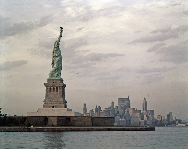 [Statue of Liberty with Lower Manhattan in Background]