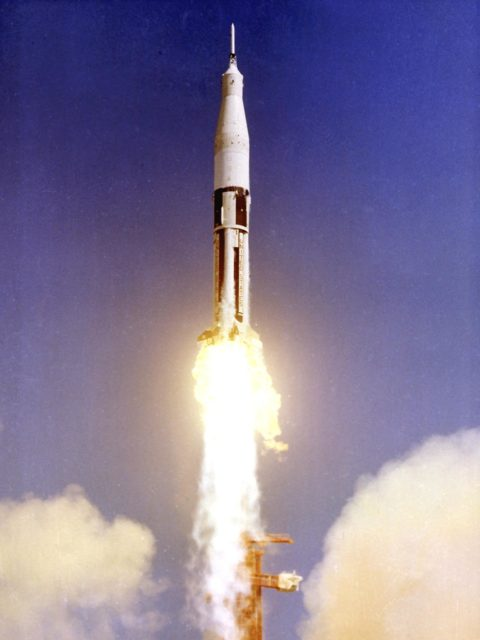 Saturn IB - AS-201, the first Saturn IB launch vehicle