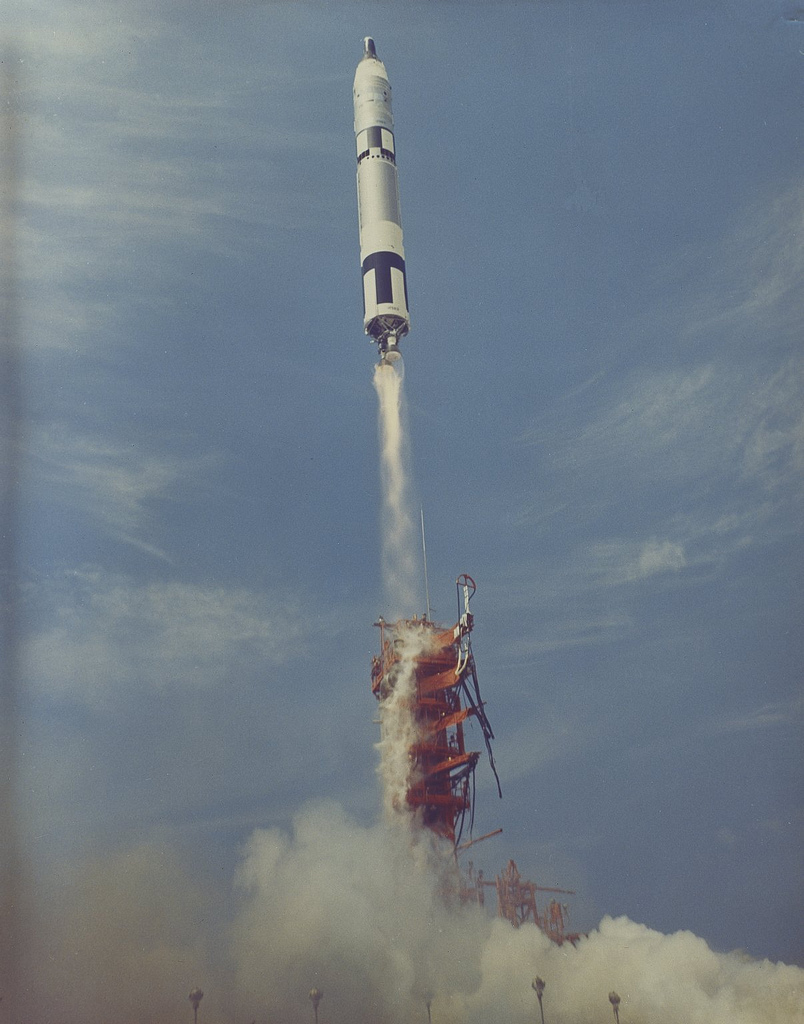 Gemini 8 Launched by Titan Booster
