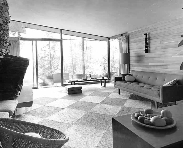 Gene Zema house showing living room, Seattle