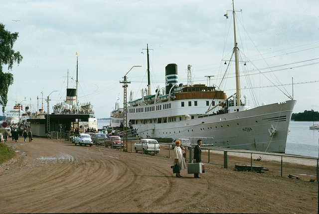 Ship in Mariehamn, Åland 1966