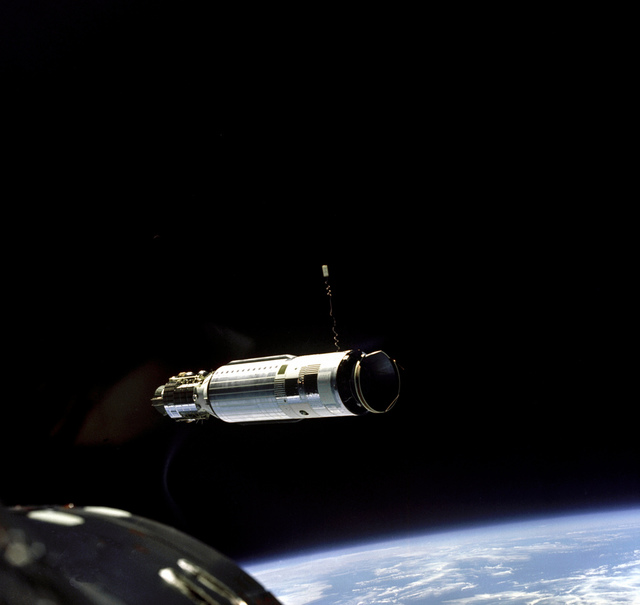 The First Docking in Space