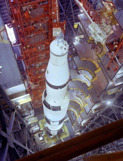 Saturn V vehicle (SA-501) for the Apollo 4 mission