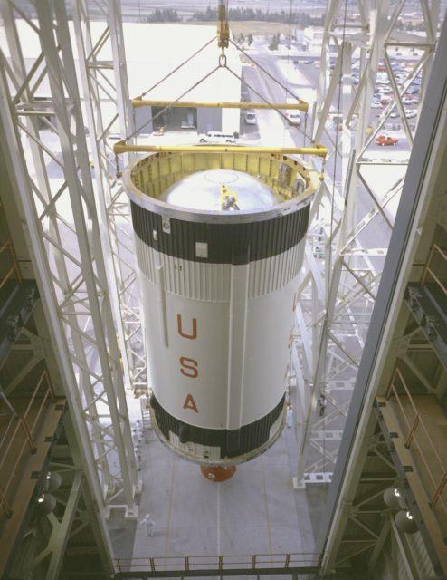 McDornel-Douglas install the Saturn IB S-IVB (second) stage