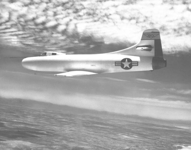 D-558-I in flight. E67-17347