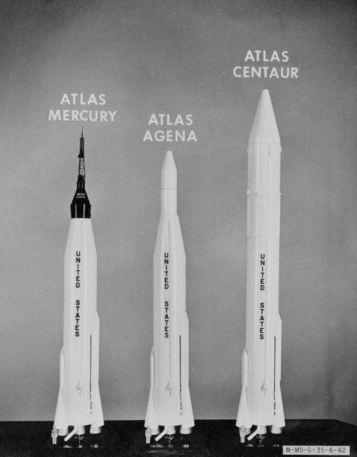Early Rockets: The Atlas Mercury, Atlas Centaur, and Atlas Agena.