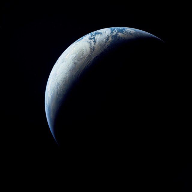 Brazil, Atlantic Ocean, Africa & Antarctica seen from Apollo 4
