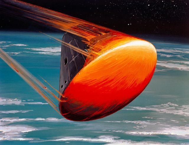 Art Concept - Apollo VIII - Command Module (CM) - Re-Entry Orientation