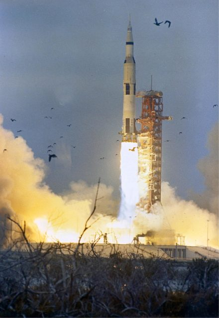 Apollo 9 (Saturn V launch vehicle, SA-504) launch