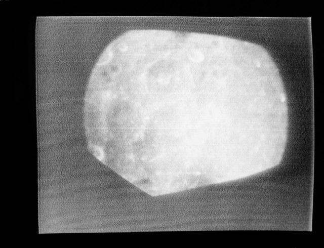 View of the earth transmitted during live televition transmission Apollo 8