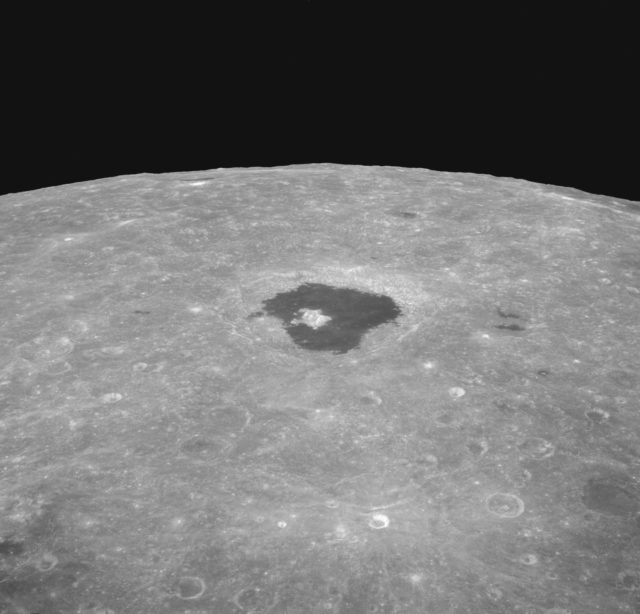 View of crater Tsiolkovsky taken from Apollo 8 spacecraft
