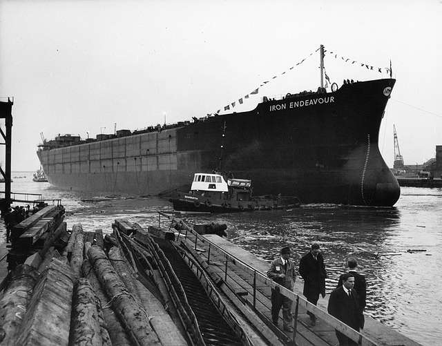 'Iron Endeavour' afloat after launch