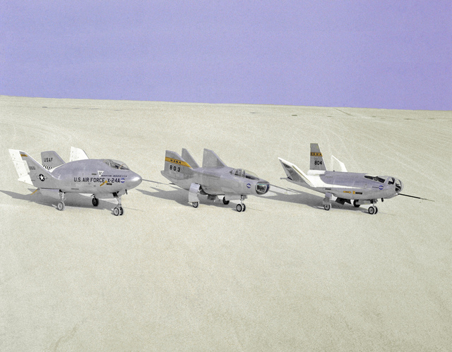 Lifting Bodies on Lakebed