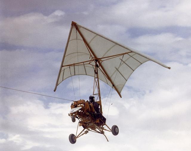 Paresev 1-B in Tow Flight
