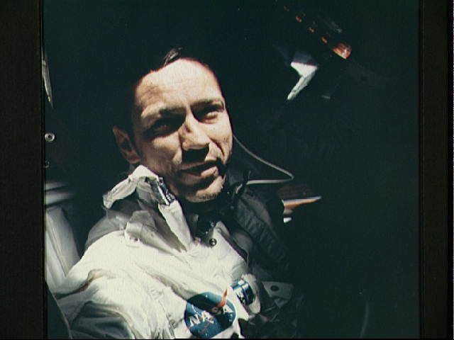 Prime crew photographed during Apollo 7 mission