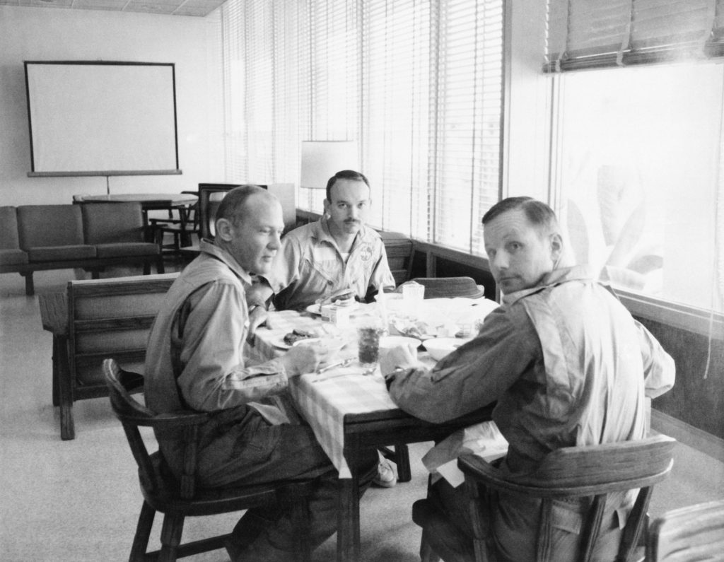Apollo XI Crewmen - Dining - Crew Reception Area - Lunar Receiving Lab (LRL) - MSC
