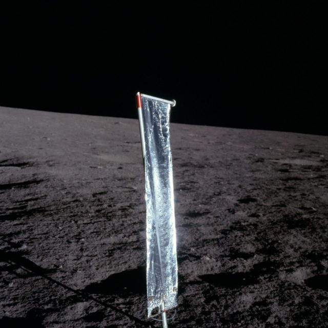 Apollo 12 Mission image - Close-up view of the Solar Wind Panel