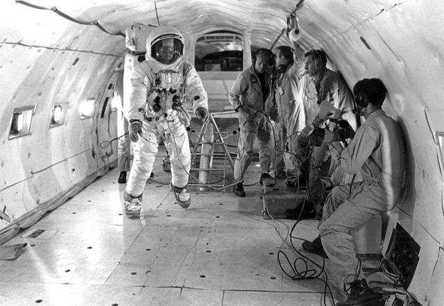 Apollo 11 Astronaut Edwin Aldrin Prepares for Weightless Conditions