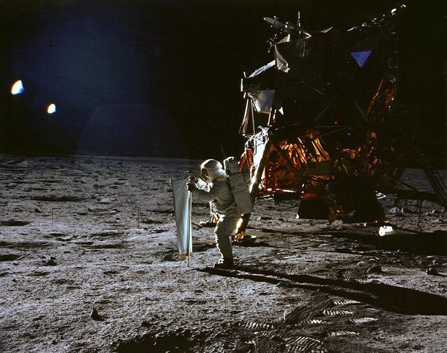 Apollo 11: Catching Some Sun