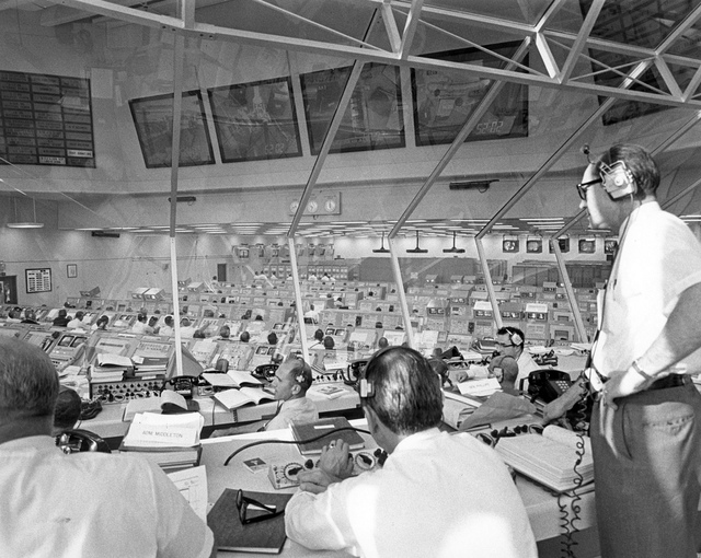 Apollo Director Phillips Monitors Apollo 11 Pre-Launch Activities