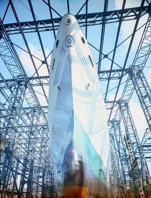 Cargo ship 'Finix' ready for launch