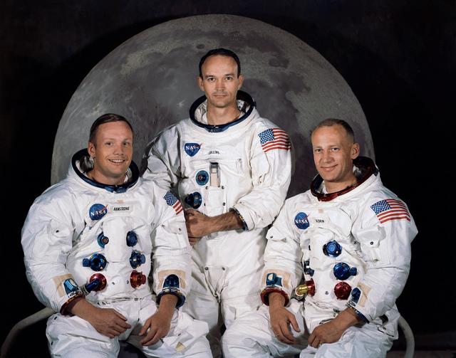 Portrait of Apollo 11 crewmembers