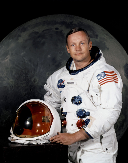 Portrait of Astronaut Neil A. Armstrong, commander of Apollo 11 mission