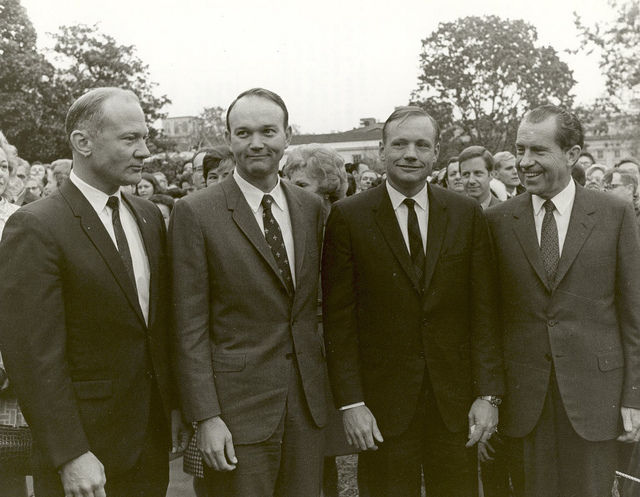 President Nixon Meets the Apollo 11 Astronauts on the Lawn of the White House