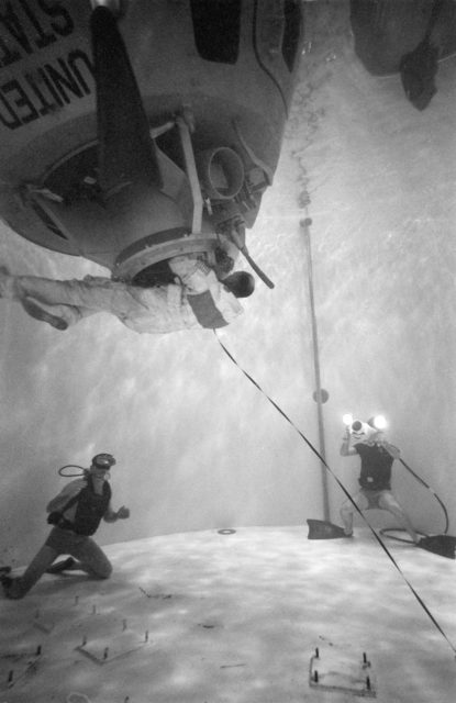 Apollo 13 Astronaut Thomas Mattingly during water egress training