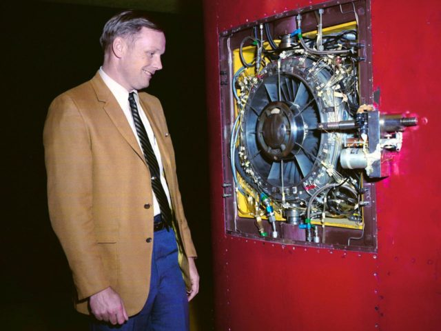 Neil Armstrong in the 9-by 15-Foot Low Speed Wind Tunnel