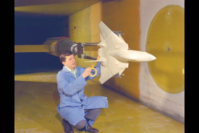 Grumman F-14A model: 9x7ft w.t. Test-97-446 ARC-1970-AC70-1341