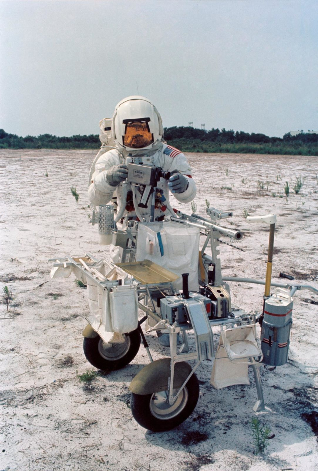 Astronaut Alan B. Shepard in lunar surface simulation training