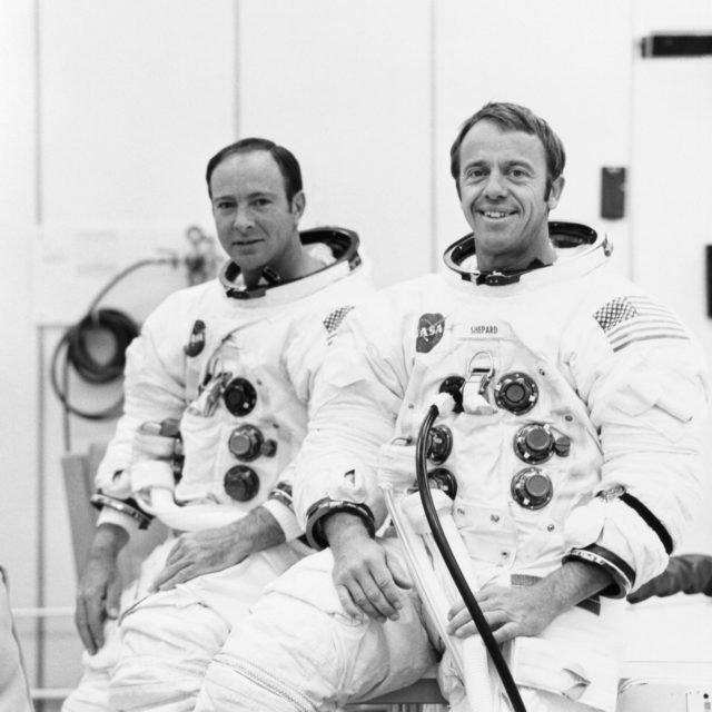 ALTITUDE TESTS - ASTRONAUTS SHEPARD AND MITCHELL - KSC