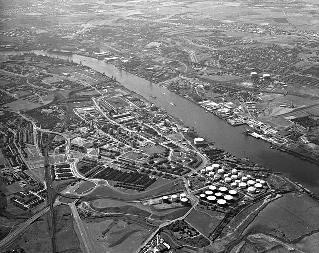 Jarrow from above, 1973