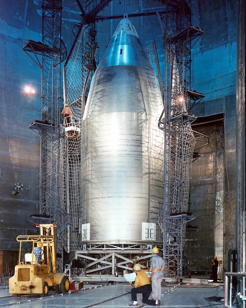 Skylab Shroud in Plum Brook Space Power Facility