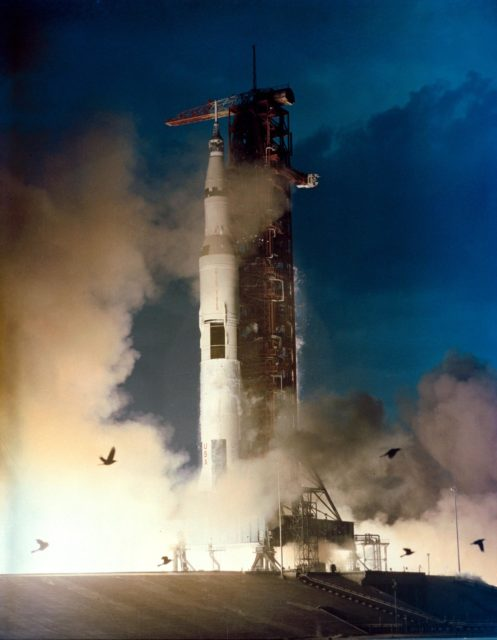 Launch of the Apollo 14 lunar landing mission