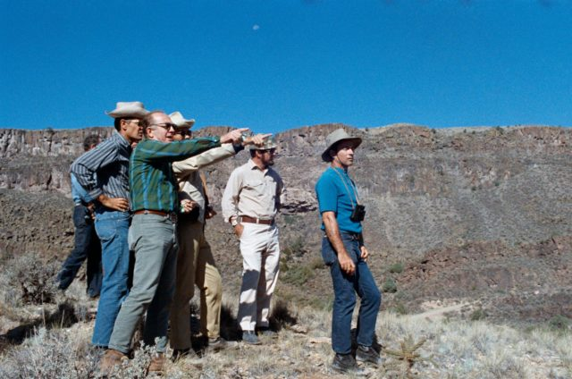 Apollo 16 prime and backup crewmen during geological field trip in New Mexico