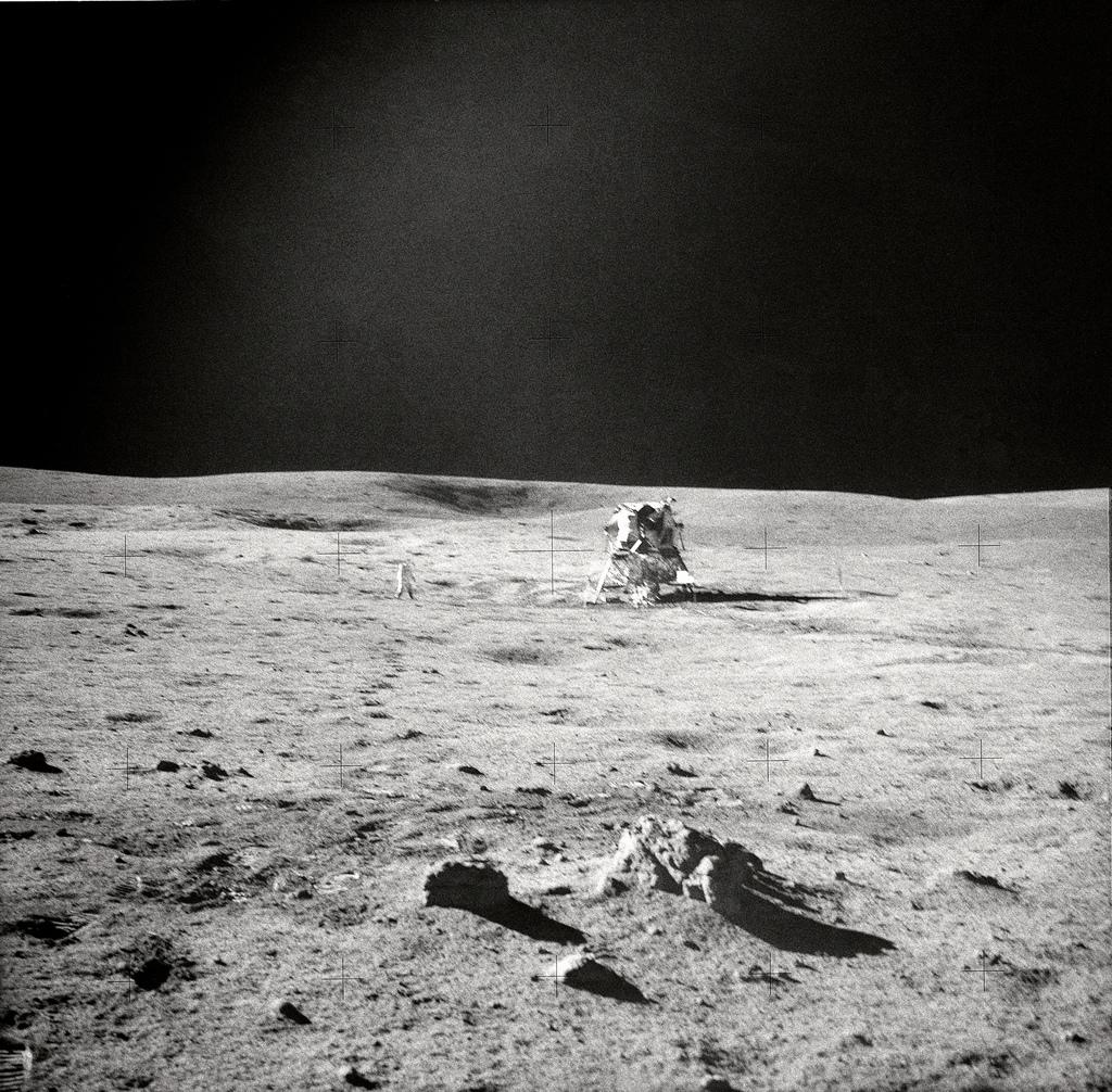Apollo 14 EVA View