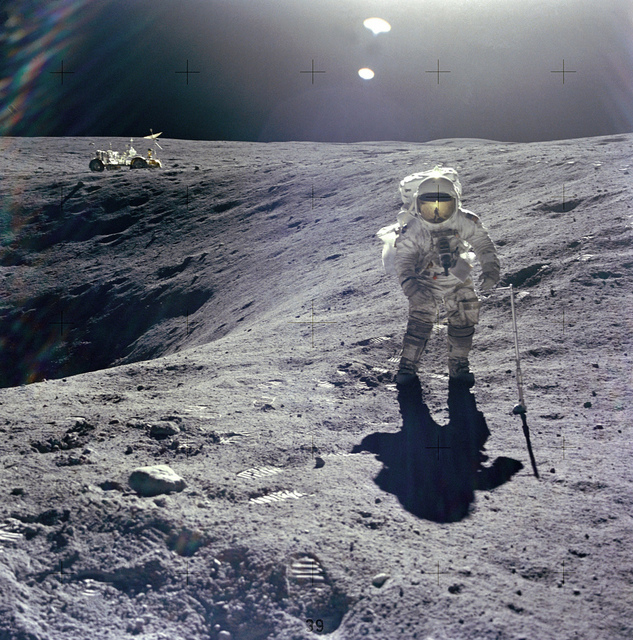 Apollo 16: Duke on Crater's Edge