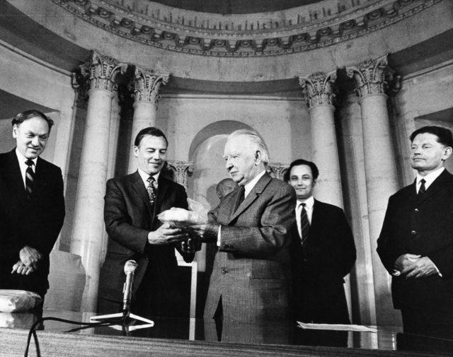 US and USSR Exchange Lunar Samples